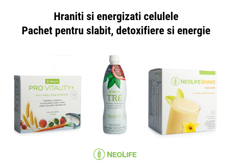Pachet pentru slabit, detoxifiere si energie